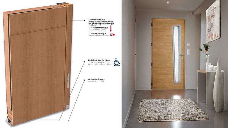 porte d 39 entr e bois aluminium ets pion fen tres portes volets. Black Bedroom Furniture Sets. Home Design Ideas
