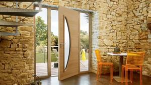 Porte d'entrée Bois / Aluminium